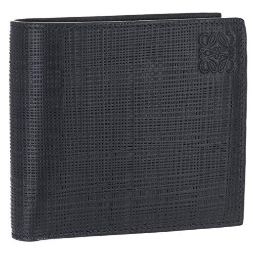 LOEWE(ロエベ) 財布 メンズ LINEN 2つ折り財布 BLACK 10188501-0039-1100 [並行輸入品]