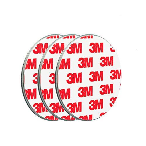 ECENCE Soporte magnético para detector de humo - 3 unidades soporte magnético adhesivo para detectores de humo Ø 70mm - Base sin taladros para detector humo y alarmas para casa contra incen