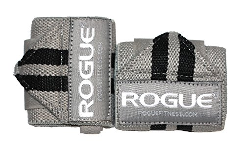 Rogue Fitness Wrist Wraps   Available in Multiple Colors (Gray, 18)