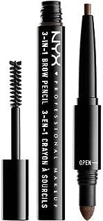 NYX Professional Makeup Makeup 3 In 1 Brow Pencil, Ash Brown