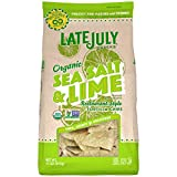 LATE JULY Snacks Restaurant Style Sea Salt & Lime Tortilla Chips, 11 oz. Bag...
