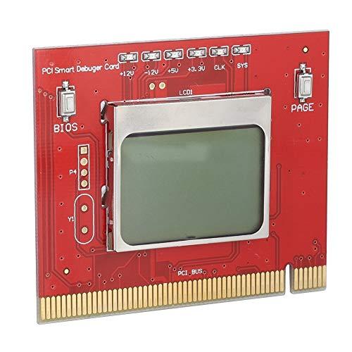 KSTE Placa Base Diagnostico PCI, Tarjeta de Diagnóstico PCI, Tarjeta de diagnóstico Placa Base del PC de sobremesa PCI Detección Informática e TestCard (Rojo)