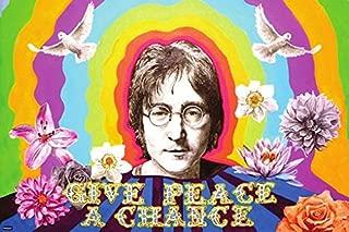 Beatles John Lennon Give Peace a Chance Imagine Memorial Flower Poster 24x36 Home Decor Print
