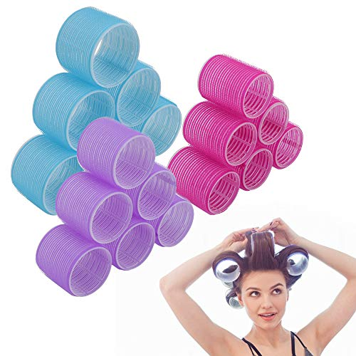 Jumbo Size Hair Roller sets, Curler Rolelrs.Self Grip, Salon Hair Dressing Curlers, Hair Curlers (Jumbo Plus 18 pcs)