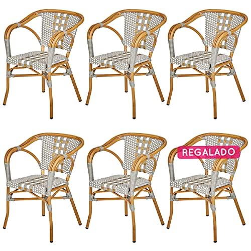 Rotin Design sillón de Bistro Dario de Exterior