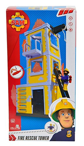 Sam el bombero - Torre de Entrenamiento con Figura y Accesorios, Color...