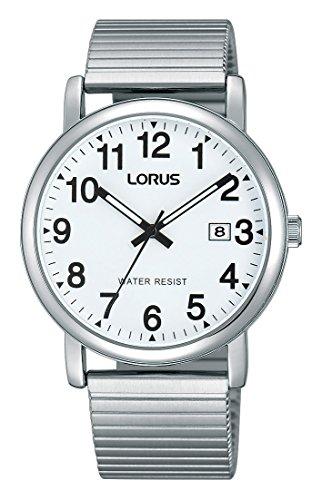 Lorus Klassik Herren-Uhr mit Palladiumauflage und Metallband RG859CX9