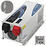 FlowerW 2000W Car Power Inverter, 12V to 220V-240V, 6000W Peak Power, Low Frequency Inverter Battery Charger LCD, Sine Wave Automotive Voltage Converter
