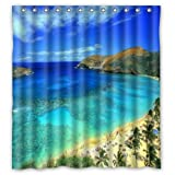 FMSHPON Beach in Hawaii Design Waterproof Polyester Fabric Bathroom Shower Curtain 66 x 72 Inches