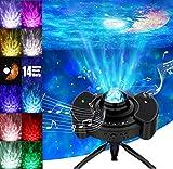 Wurkkos Proyector de estrella 4 en 1 Luz nocturna, Proyector de estrella Auraro con altavoz estéreo Bluetooth, Proyector de cielo estrellado con Luna LED para adultos, niños, decoración, regalos