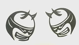 Auggies Pair 2 Custom Scat Pack Super Angry Demon Bee SRT Fender Side Emblem Badges For Challenger Charger (Matte Black)