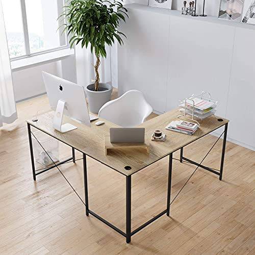 Bestier L-Shaped 95.2 inches Computer Desk