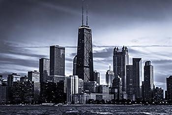Chicago City Skyline Photo Photograph Cool Wall Decor Art Print Poster 36x24