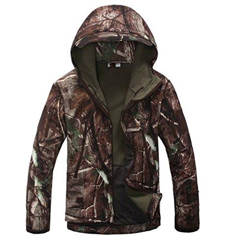 Noga Men Outdoor Hunting Camping Waterproof Coats Jacket Hoodie (Trees Camouflage, M)