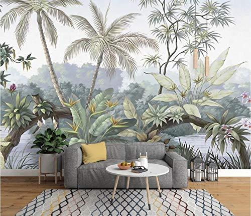jidan Tapete Foto High-End-europäische Retro-Nostalgie Regenwald Wand Hintergrund Wand Hauptdekoration 3D Wallpaper