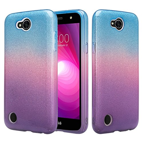 SPYCASE Glitter Sparkly TPU Phone Case Cover Compatible for LG X Power 2/LG X Charge/LG Fiesta 2/ Fiesta/LG K10 Power Case - Blue