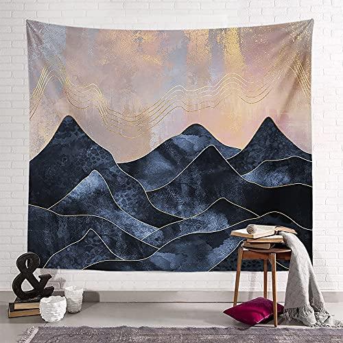 KHKJ Tapiz Sunset Mountain Series Toalla de Playa Decoración de Dormitorio Sala de Estar Familiar Tapiz de Dormitorio Fondo Cintas de Pared A9 150x130cm