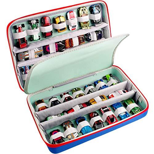 ALKOO Tasche Kompatibel mit Hot Wheels Cars.Aufbewahrung tragen Organize Holder Passend für 36 Hotwheels Cars Pack. (Nur Box)
