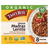 Tasty Bite Organic Vegetarian All Natural Indian Madras Lentils: Lentils, Red Beans, & Spices Simmered in a Creamy Tomato Sauce - 8 ct. (10 oz.)