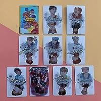 10枚/セットKpopATEEZフォトカードステッカーアルバムフォトカードロモクリスタルカードステッカー新着