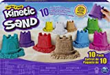 Kinetic Sand Castle Containers 10-Colour Pack for Kids Aged 3 and Up