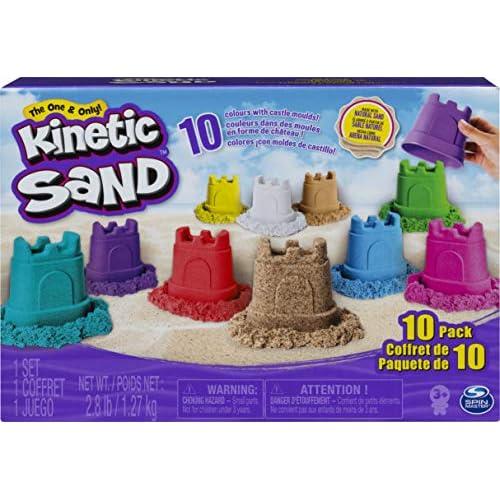 Kinetic Sand, Confezione da 10 Mini Castelli, 1.27 kg di Sabbia Modellabile in 10 Colori, dai 3 Anni