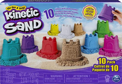 top 10 kinetic sand sets Kinetic sand, castle container 10 color pack, for children over 3 years old
