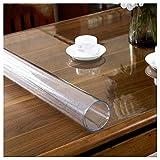 Tovaglia in PVC Trasparente,impermeabile resistente al calore resistente all'olio,facile da pulire,per cucina tavolo e scrivania,protezione da tavolo(Spessore:1mm,Dimensione:90x90cm/35.4x35.4in)