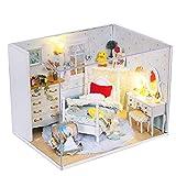 Diy小屋手工拼装玩具别墅房子屋子模型孩子礼物