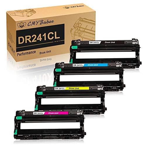 CMYBabee Compatible pour Brother DR-241CL DR245CL Drum Unites Remplacement pour Brother DCP-9020CDW DCP-9015CDW HL-3140CW HL-3150CDW HL-3170CDW MFC-9130CW MFC-9140CDN MFC-9330CDW MFC-9340CDW (4Pack)