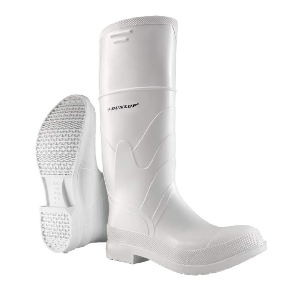 Dunlop 8101206 Selling White PVC Boots Houston Mall with Toe Water Steel Safety 100%