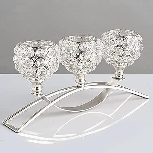 candelabro cristal de 3 brazos de la marca WLTK