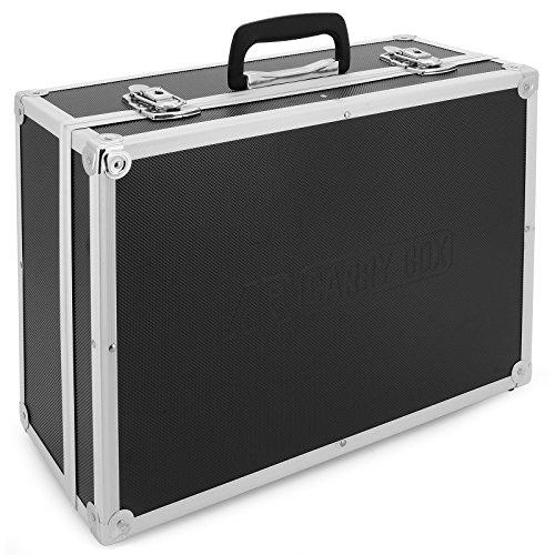 AR Carry Box® - Maletín de aluminio para herramientas, vacío, con unas medidas de 450x320x175mm, negro