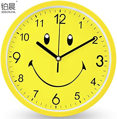 FortuneVin Wall Clock Non-ticking Number Quartz Wall Clock Living Room Decorative Indoor Clock Bedroom
