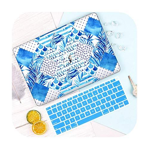 For MacBook Air 13inch Case A1932 A1466 A2179 2020 A2289 Summer Pattern Plastic Hard Shell Cover for Mac Pro 13 15 16' Touch bar-B027-Pro 16 inch A2141