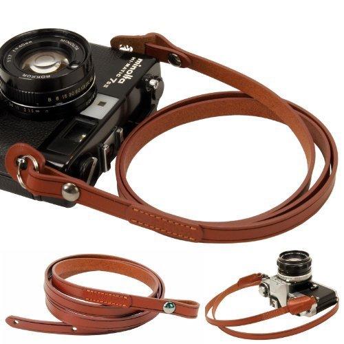 Brown Whole Leather Camera Neck Shoulder Strap for...