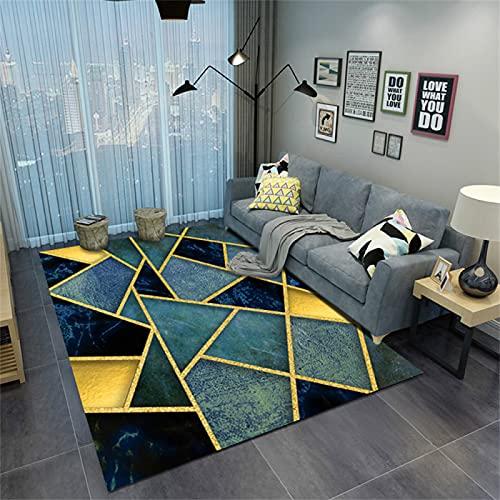 Alfombra Estampada Simple Geométrica, Cojín del Sofá, Cojín del Piso del Balcón del Dormitorio De La Sala De Estar, Cojín De La Entrada 80x120cm