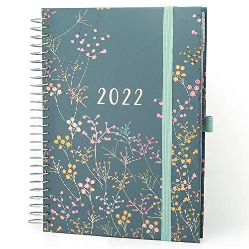 Boxclever Press Life Book Familienplaner Kalender 2021 2022. Attraktiver A5 Schülerkalender 2021 2022 mit 7 Spalten. 16-monatiger Schulplaner 2021/2022 von Mitte Aug.'21-Dez.'22.