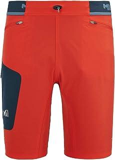 MILLET Ltk Speed Long Short Hiking Shorts, Mens, Fire/Orion Blue, M