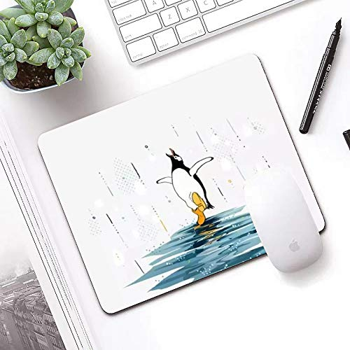 Optimized for Gaming sensors Penguin Rainwater Gaming Mouse pad Ergonomics Rubber Printing High-Performance Mouse pad Made of Neoprene Home Office Supplies ✓