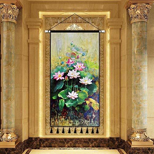 mmzki Klassische skandinavischen Stil übergroße Leinwand Malerei Landschaftsmalerei Kunst dekorative Malerei Veranda Wohnzimmer Hintergrund Dekoration Rollbild P 50X100CM