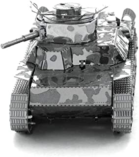 Metal Earth Fascinations MMS202 - 502464, Chi Ha Tank Construction Toy 2 Metal Board (Ages 14