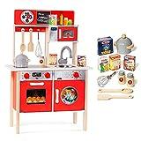 MOLTO | Cocinita de Madera para Niña y Niño con Electrodomésticos | Juguetes Educativos para Niños | Cocina de Juguete con Materiales Eco-Friendly | Partir de 3 Años
