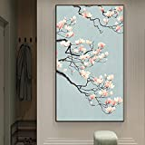 Chinese floral canvas art posters and prints living room bedroom corridor traditional wall decoration art pictures 50x90 CM (sin marco)