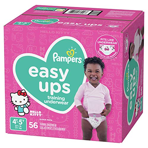 Pampers Easy Ups Pull On Disposable Tr   aining Diaper for Girls, Size 6 (4T-5T), Super Pack, 60 Count