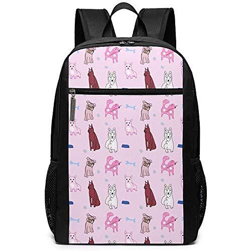 Yuanmeiju Dog Pelvis Sticker Unisex Unique Shoulder Bags,Adult Student Double Zipper Closure Casual Daypack