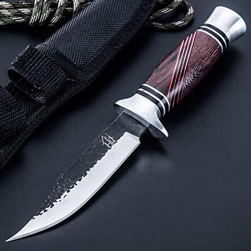 Hobby Hut HH-353 ,Jagdmesser mit Scheide, jagdmesser feststehende klinge (Black)