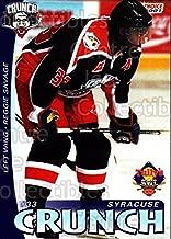 (CI) Reggie Savage Hockey Card 2000-01 Syracuse Crunch 21 Reggie Savage