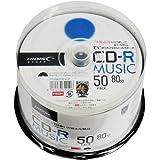 HI-DISC CD-R 音楽用 48倍速 80分  50枚   【TYテクノロジー】 TYCR80YMP50SP