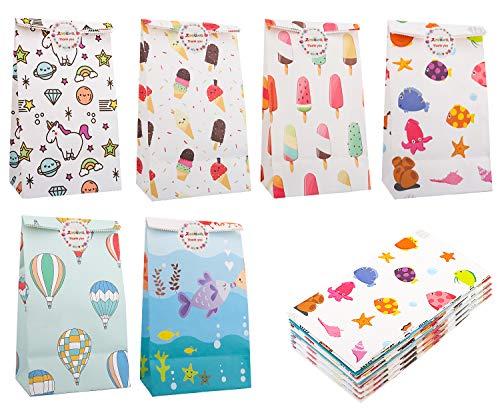Zooawa 48 PZS Bolsa de Regalo de Dibujos Animados, Bolsas de